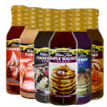 Pancake, Chocolate, Maple Walnut, Caramel, Blueberry and Strawberry Syrup Variety Pack