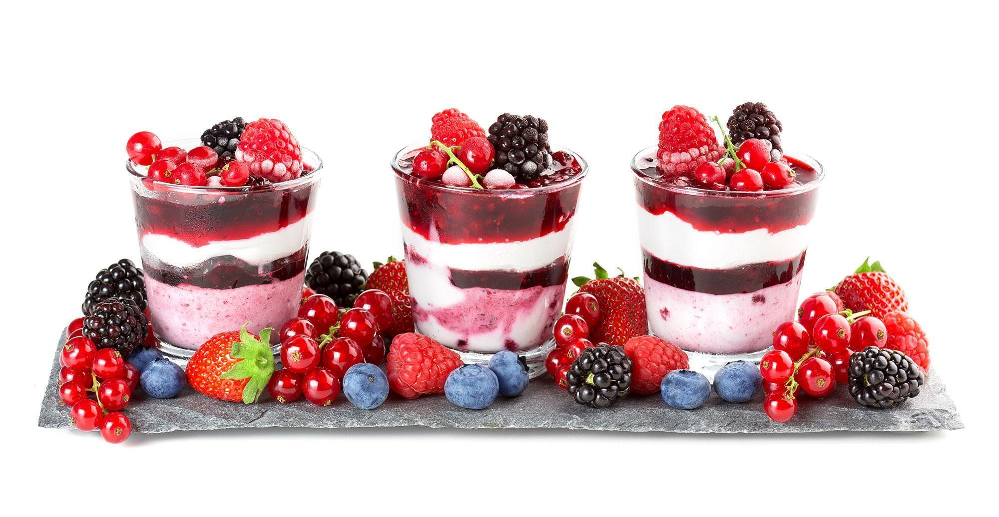 Red, White and Blueberry Parfait Recipe Photo