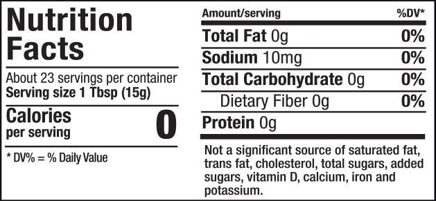 Raspberry Fruit Spread Nutrition Facts